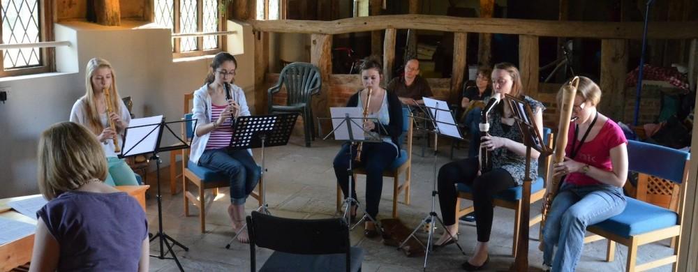 Group in Barn